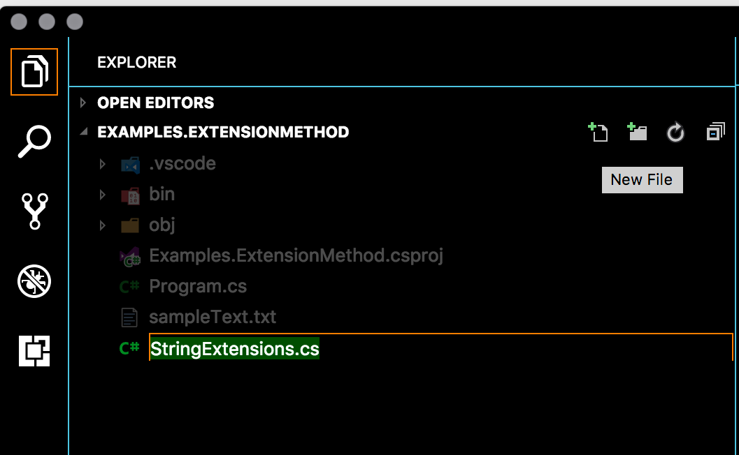 New StringExtension.cs Class source file